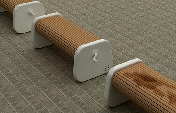 21. Chiếc ghế xoay này sẽ cực kì tiện dụng khi trời mưa, bạn chỉ việc xoạy nhẹ và nước sẽ rơi ra và bạn lại ngồi trên mặt ghế không bị ướt lập tức(Ảnh: Internet)