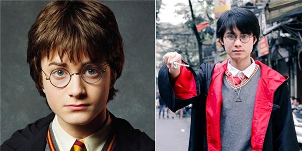 Hoàng Văn Thiết và Harry Potter có nhiều nét tương đồng trên gương mặt.