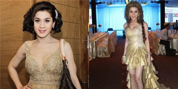 Lâm Chi Khanh vẫn trung thành với váy áo công chúa kết hợp kiểu tóc của các dì, các mợ.