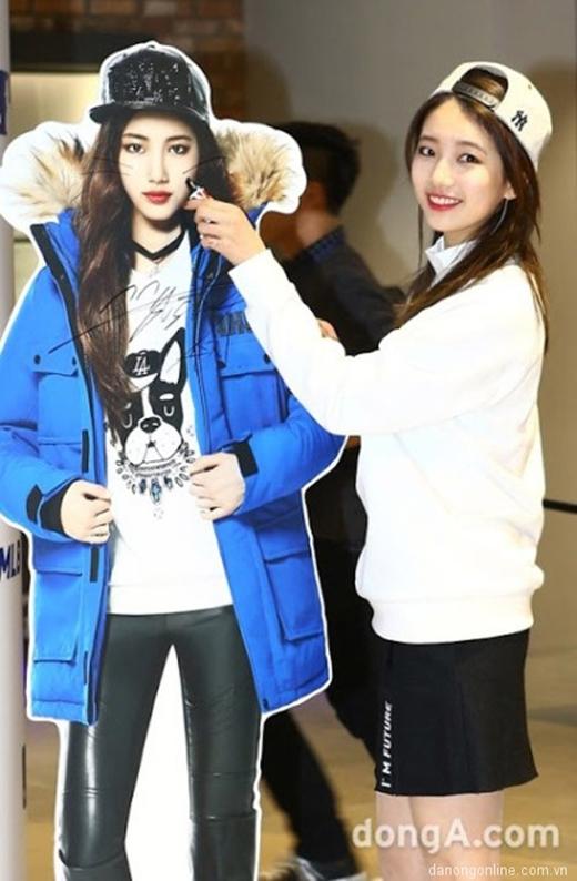 Suzy được photoshop hỗ trợ để xinh đẹp hơn trên standee. (Ảnh: Internet)