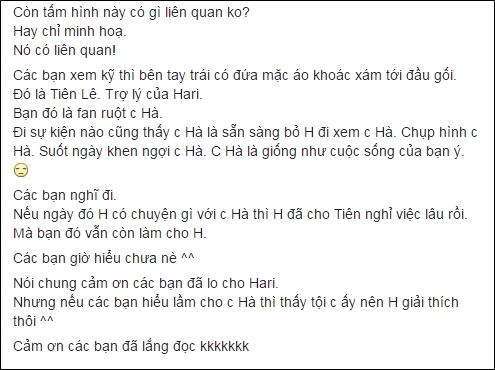 Chia sẻ của Hari Won - Tin sao Viet - Tin tuc sao Viet - Scandal sao Viet - Tin tuc cua Sao - Tin cua Sao