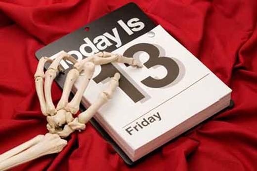 Thứ 6 ngày 13 được coi là ngày xui xẻo ở nhiều nước phương Tây. (Ảnh minh họa)