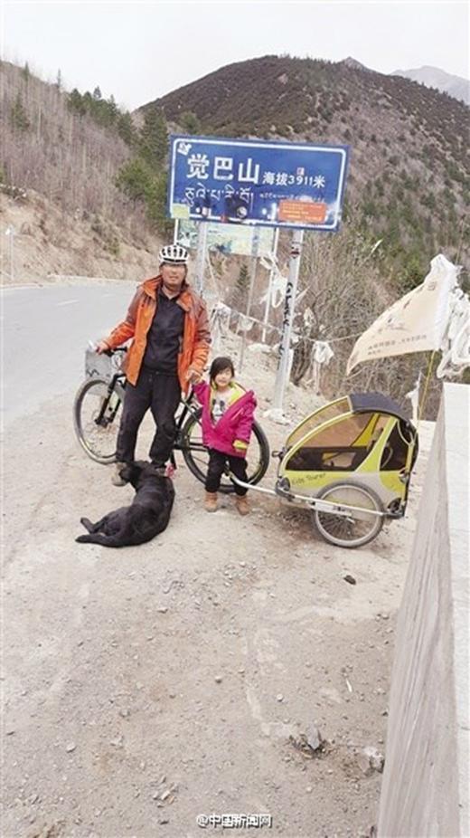 Chuyến hành trình của hai bố con hẳn là một kỉ niệm khó quên khiến ai cũng ngưỡng mộ.(Ảnh: Internet)