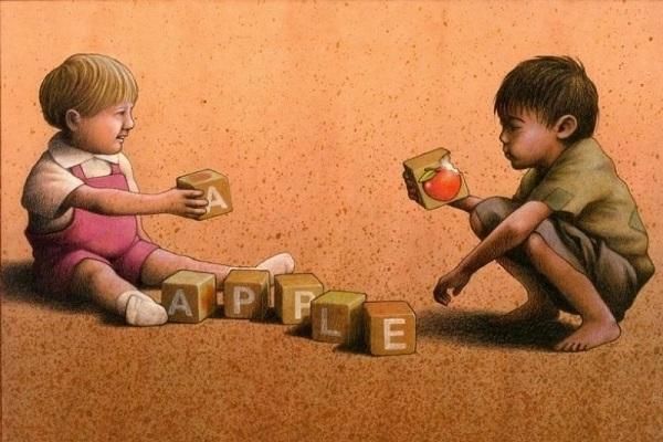 Một quả táo và sự khác nhau quá lớn giữa giàu và nghèo