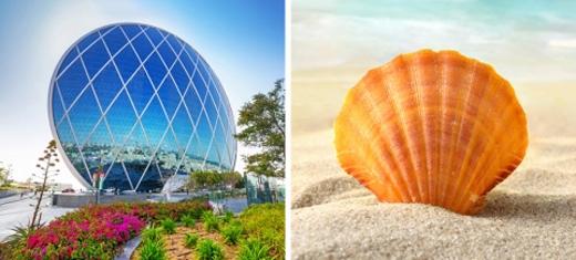 Sở xây dựng tại Abu Dhabi, một thành phố của các tiểu vương quốc Ả Rập.