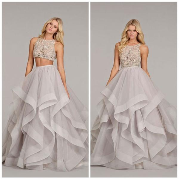 Váy cưới crop-top mang đến sự tươi trẻ cho các cô dâu trong ngày cưới. (Ảnh: Internet)