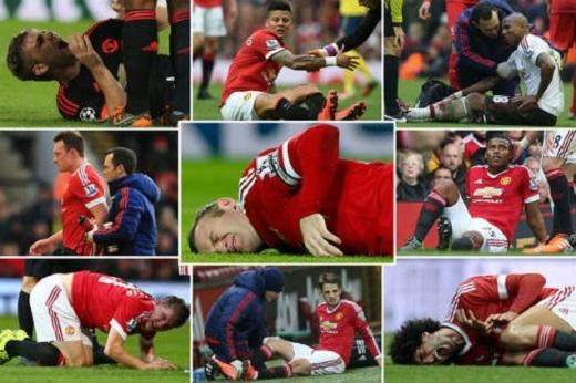 Có thời điểm MU mất 14 cầu thủ vì chấn thương
