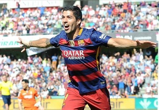 Suarez đã cống hiến những gì tốt nhất cho đội chủ sân Nou Camp.Ảnh: Goal.