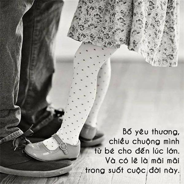 Với con gái, bố mãi mãi là