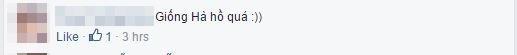 Một phần nhỏ trong rất nhiều bình luận khen ngợi vẻ ngoài, đặc biệt là khuôn miệng của Quang Diệu giống nữ ca sĩ đình đám Hồ Ngọc Hà. (Ảnh chụp màn hình FBNV)