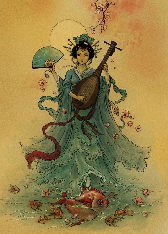 Benzaiten làvị thần của nước, sắc đẹp và ngôn ngữ được thờ bên cạnh hồ.(Ảnh: Internet)