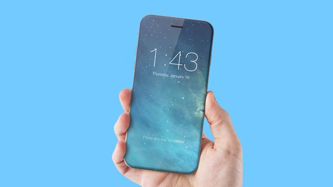 """Apple sẽ tiếp tục """"làm khó"""" các đối tác khi yêu cầu bọc kính bên ngoài thân kim loại cho thế hệ iPhone năm 2017. Ảnh: Conceptphone."""