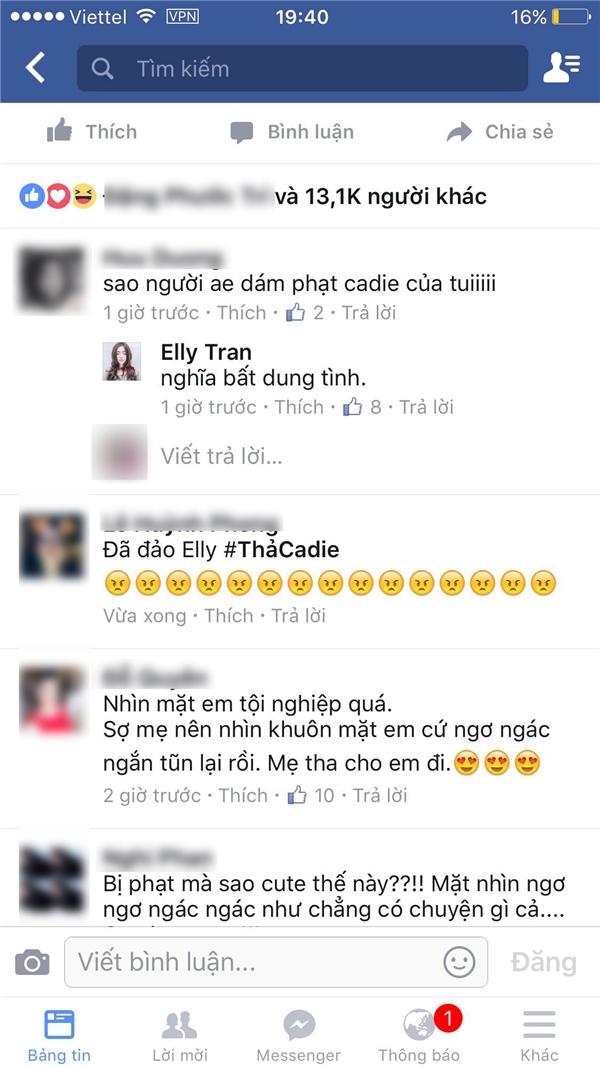"""Khi người hâm mộ lên tiếng bênh vực Cadie, Elly Trần đã hài hước trả lời: """"Nghĩa bất dung tình"""". - Tin sao Viet - Tin tuc sao Viet - Scandal sao Viet - Tin tuc cua Sao - Tin cua Sao"""