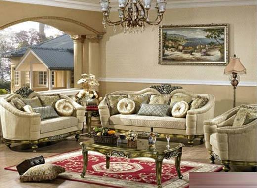 Phòng khách với gam màu vàng ấm cúng được trang trí bằng rất nhiều đồ nội thất độc đáo.
