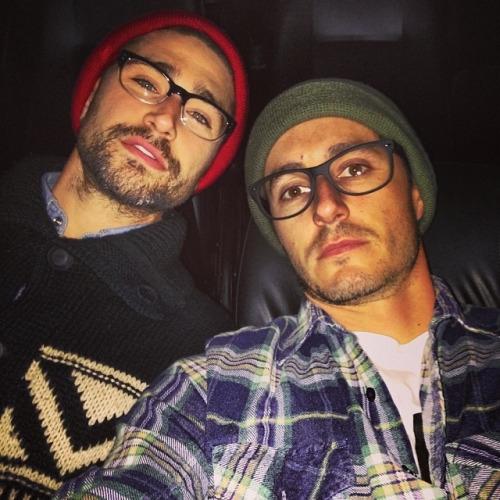 Blue và Matt là một trong số những cặp đôi đồng tính nam được yêu thích nhất Hollywood.(Ảnh: Internet)