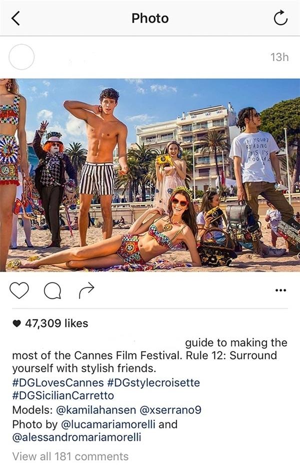 Sau khi rời khỏi thảm đỏ, Angela Phương Trinh có chuyến dạo biển tại Cannes khá thú vị. Đặc biệt, khoảnh khắc nữ diễn viên vui đùa vui đã bất ngờ xuất hiện trên Instagram của nhà mốt một thương hiệu lớn trên thế giớicùng những người mẫu củA hãng.