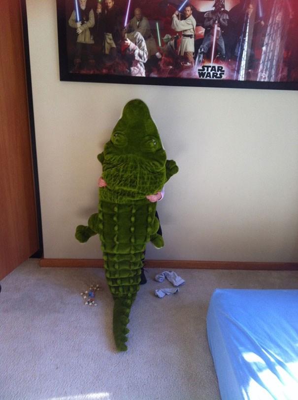 A, chỉ là con cá sấu thôi, không phải con mình đâu.