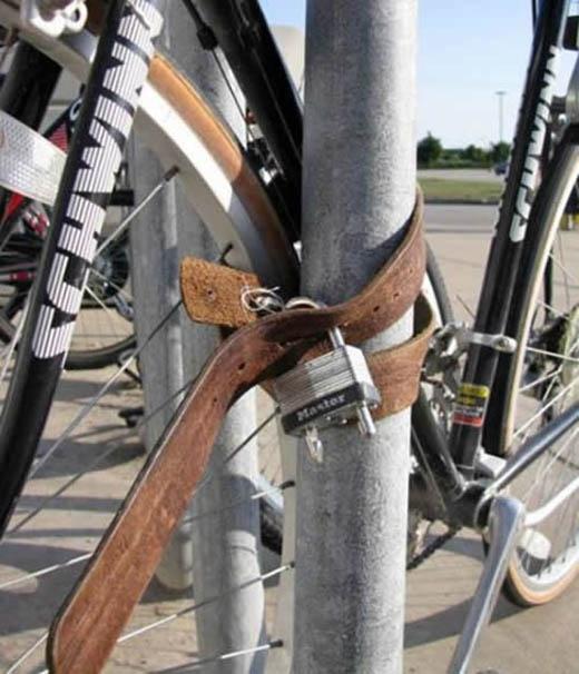 """Những người có phong cách khóa xe đạp kiểu... """"thần thánh"""""""