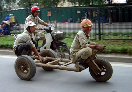 """Xe đua thương hiệu Việt""""chất lừ"""" chỉ để làm màu chứ không để đua.(Ảnh: Internet)"""
