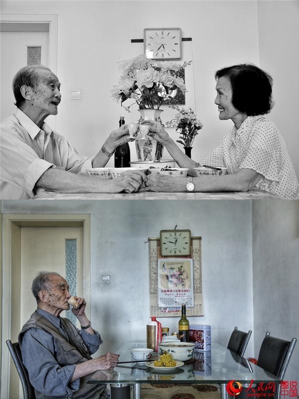 """""""Năm đó, ông đã 95 tuổi còn bà đã 85 tuổi. Năm nay, ông đã 99 tuổi và bà đã mãi đi xa từ một năm trước"""""""