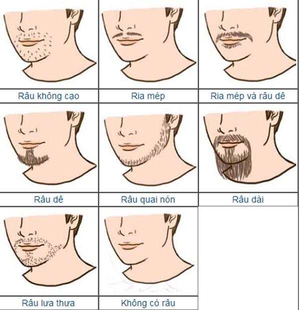 Nhìn râu, biết kiểu đàn ông dễ