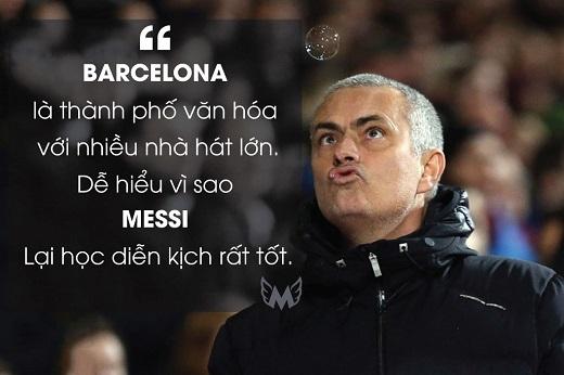 Mourinho mở đầu buổi họp báo bằng phản ứng về việc Lionel Messi khiến Asier del Horno của Chelsea bị đuổi khỏi sân trong trận đấu tại Champions League 2005/2006.