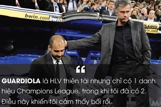 Mourinho tỏ ra hả hê trước thời điểm Pep Guardiola giànhChampions League thứ hai cùng Barca năm 2011.