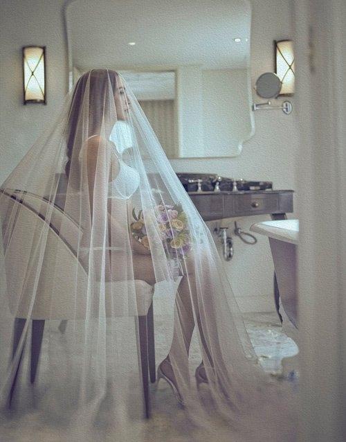 Hình ảnh cưới này cũng từng gây xôn xao dư luận.