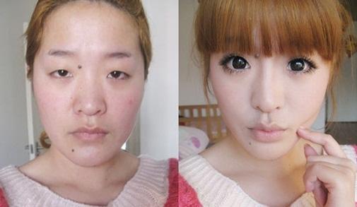 Sự chuyển biến ngoạn mục của một cô gái Trung Quốc. (Ảnh: Internet)