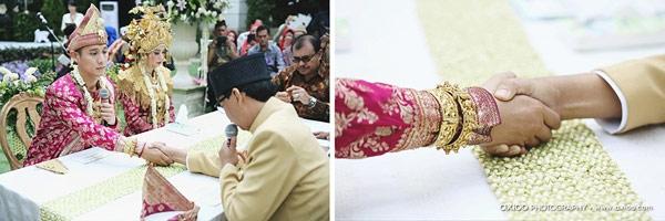 Giây phút kí giấy kết hôn của cả hai. (Ảnh: Internet)