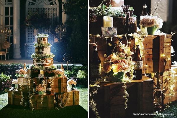 Bữa tiệc được bố trí sang trọng theo phong cách châu Âu. (Ảnh: Internet)