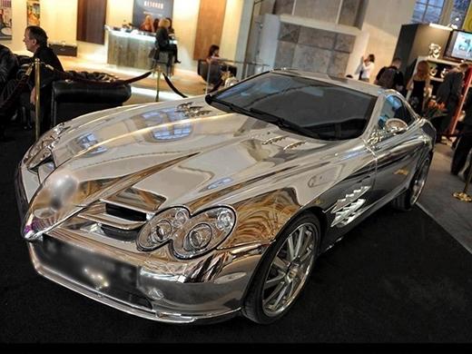 Xe hơi bọc vàng, bọc bạc chỉ là chuyện nhỏ ở Dubai. (Ảnh: Internet)