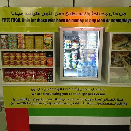 Quầy thức ăn miễn phí cho người nghèo. (Ảnh: Internet)