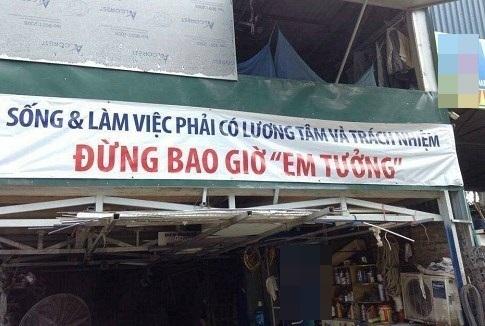 Băng-rôn này xứng đángđược treo trước cổng của các công ty trên khắp Việt Nam!(Ảnh: Internet)