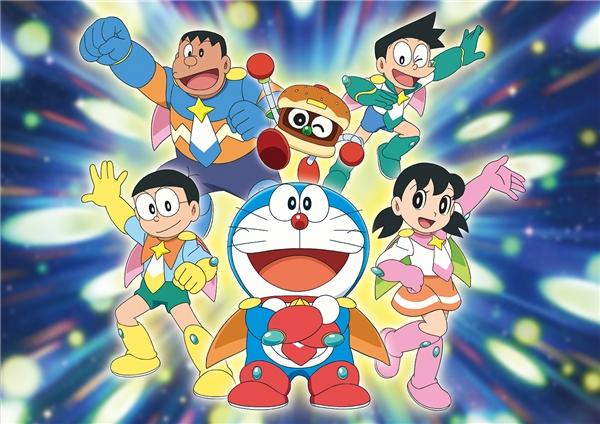 """Đô-rê-mon là bộ truyện tranh """"huyền thoại"""" của nước Nhật nổi tiếng khắp thế giới bao thập kỉ qua. Có thể nói những nhân vật Đô-rê-mon, Nô-bi-ta, Chai-en, Xê-ko, Xu-kaluôn gắn liền với thời thơ ấu của nhiều thế hệ.(Ảnh: Internet)"""