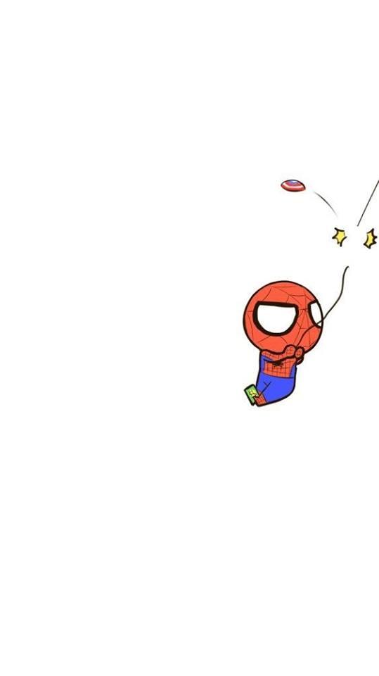 Ấy vậy mà Cap cũng không tha, ném khiên lần nữa chặt đứt dây tơ của Nhện.