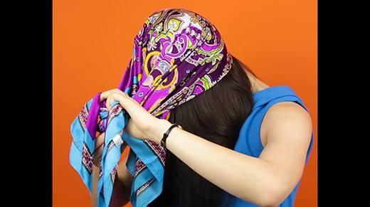 4 kiểu thắt khăn đội đầu cực đẹp trong 1 nốt nhạc