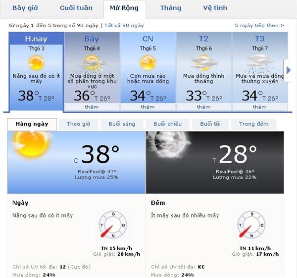 Theo thông tin một trang đo lườngnhiệt độ Hà Nội, thìhôm nay mức nhiệt cao nhất khoảng 38 độ C. (Ảnh: Chụp màn hình)