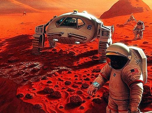 Ý tưởng sông trênsao Hỏa có thể trở thành hiện thực vào năm 2024. (Ảnh: Internet)