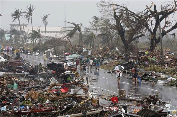 Siêu bão Haiyan đổ bộ vào miền TrungPhilippines năm 2014. (Ảnh: Internet)