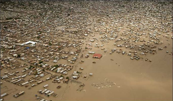Một thành phố ở Haiti chìm xuống đáy biển. (Ảnh: Internet)