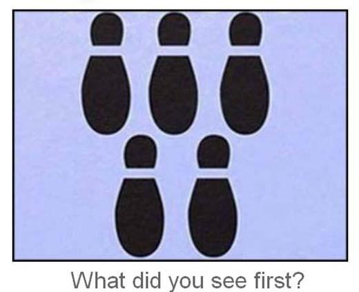 Bạn nhìn thấy gì đầu tiên trong ảnh này?