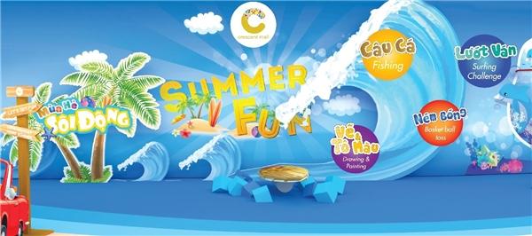 """Sân chơi """"Mùa hè sôi động"""" hứa hẹn sẽ mang đến nhiều hoạt động thú vị cho bạn và gia đình."""