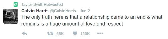 Dòng tweetmớinhất của Calvin. (Ảnh chụp màn hình)