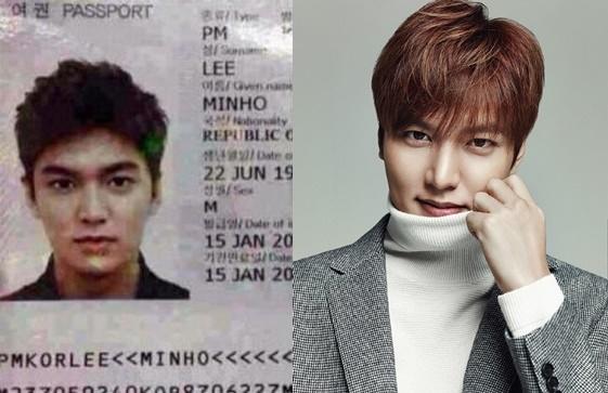 Dù là ảnh hộ chiếu nhưng vẫn có thể dễ dàng nhận ra vẻ điển trai đến từng đường nét của mĩ nam Lee Min Ho.