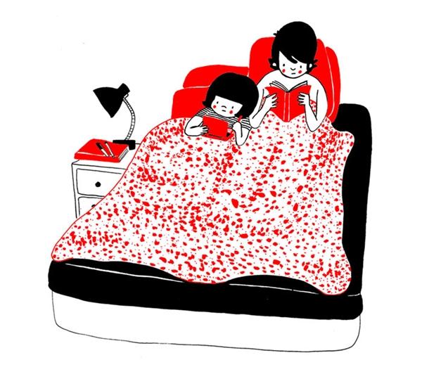 Là cùng nhau cuộn mình trong chăn và đọc sách