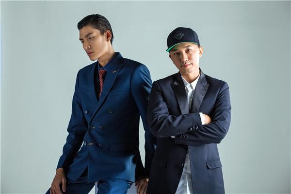 Nhà thiết kế Trần Minh Dũng và người mẫu Quang Đại