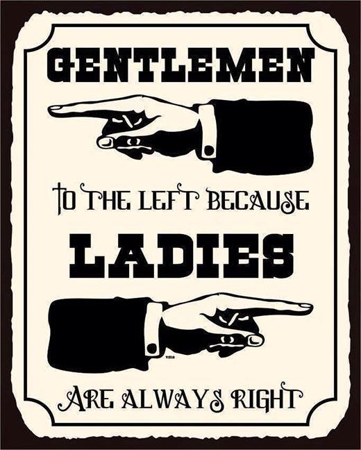 Đúng câu nam tả nữ hữu.