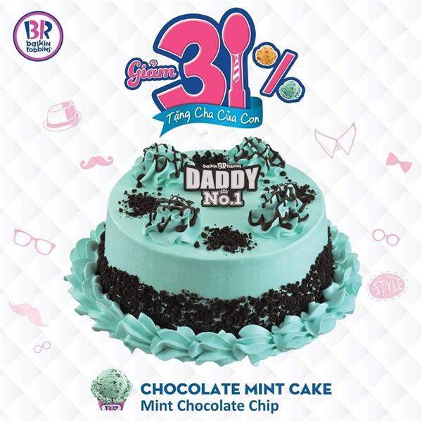 Đầu tiên là chiếc bánh đặc biệt riêng cho dịp này – Chocolate Mint Cake.