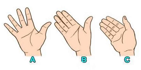 Nhìn vào khoảng hở giữa các ngón tay và đoán tính cách. (Ảnh: Internet)